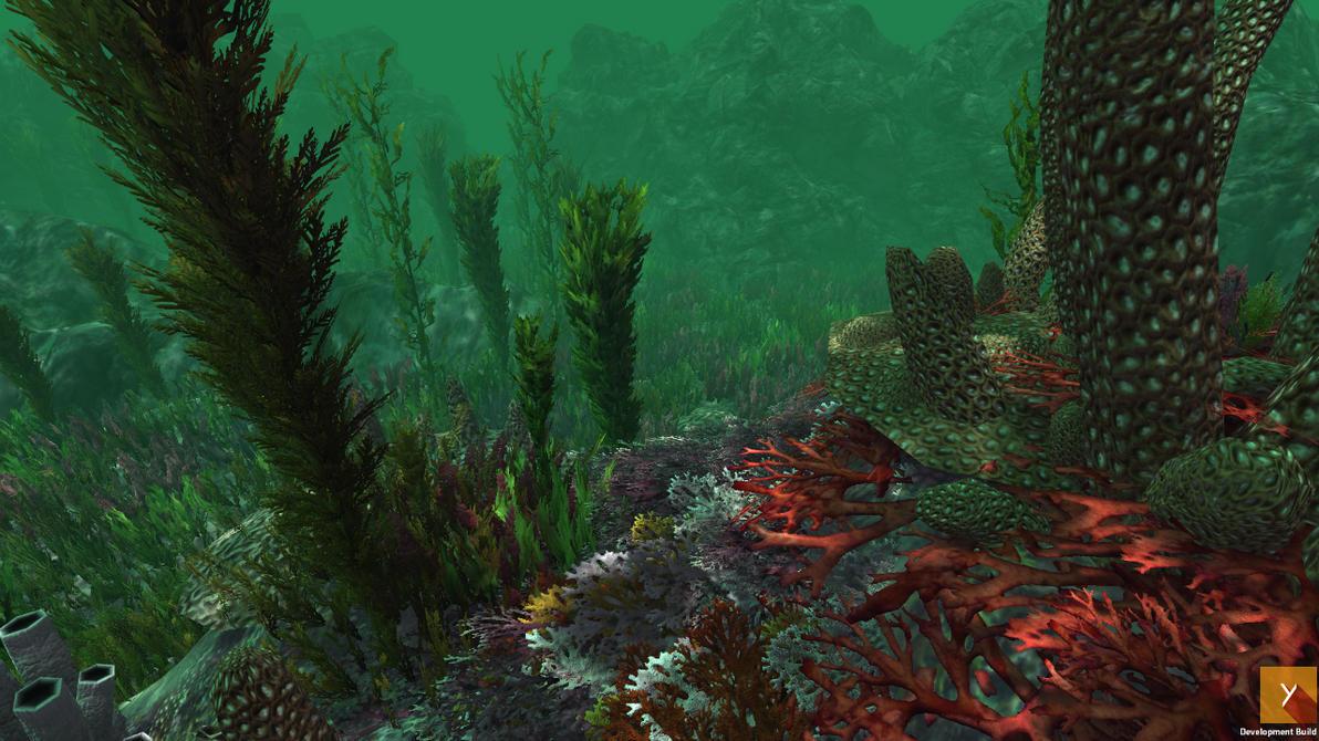 UPGRADE - Unity : Underwater Plants v.2 by Nobiax