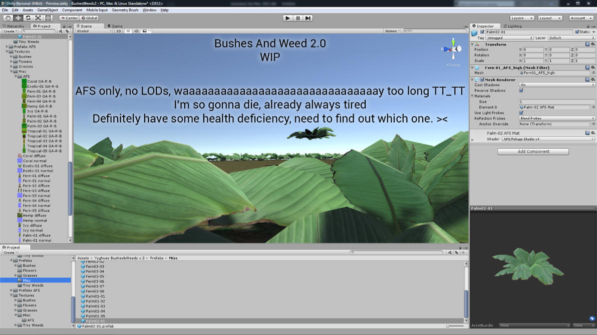 BushesWeeds 2.0 - WIP by Nobiax