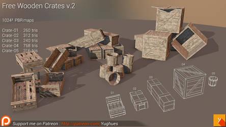 [Cubebrush] Free Wooden Crates v.2