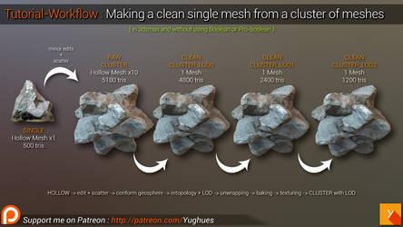[YOUTUBE] Tutorial-Workflow: Cluster w/ LOD making
