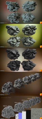 Yughues PhotoRock02 - Cluster by Yughues