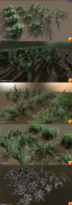 Yughues Pine Bushes