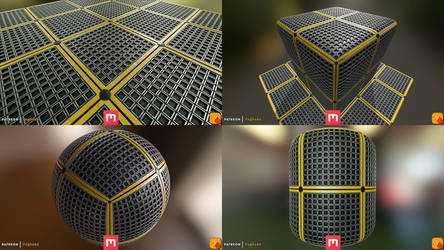 Yughues Floor Metal Grid
