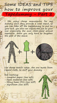 How to improve fursuitcrafting - Tapedummy Part 2