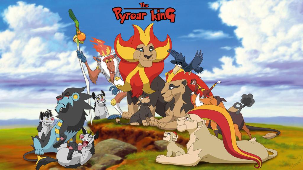 La influencia del rey león en el mundo pokemón The_pyroar_king_by_sbooc-d75v9un