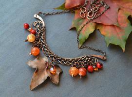 Late autumn - Samhain necklace by Bohemi-enne