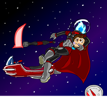 Scaphandre the Space Dullahan! (5/6) by Dr-Scaphandre