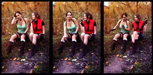 Lara Croft and Claire Redfield