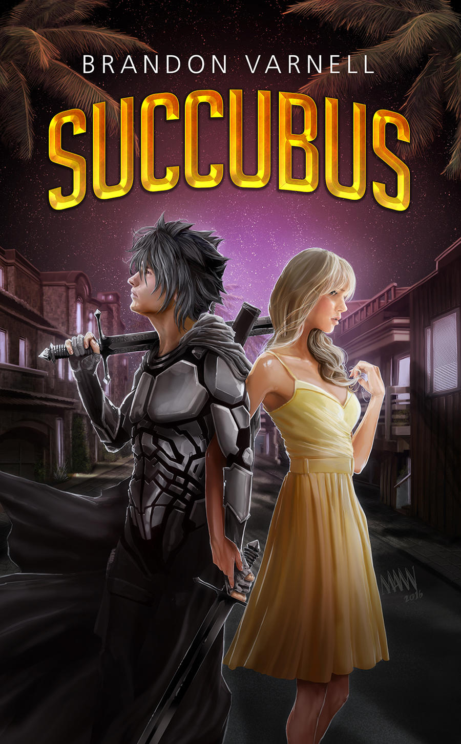 BrandonVarnell Succubus book cover by LawrenceMann