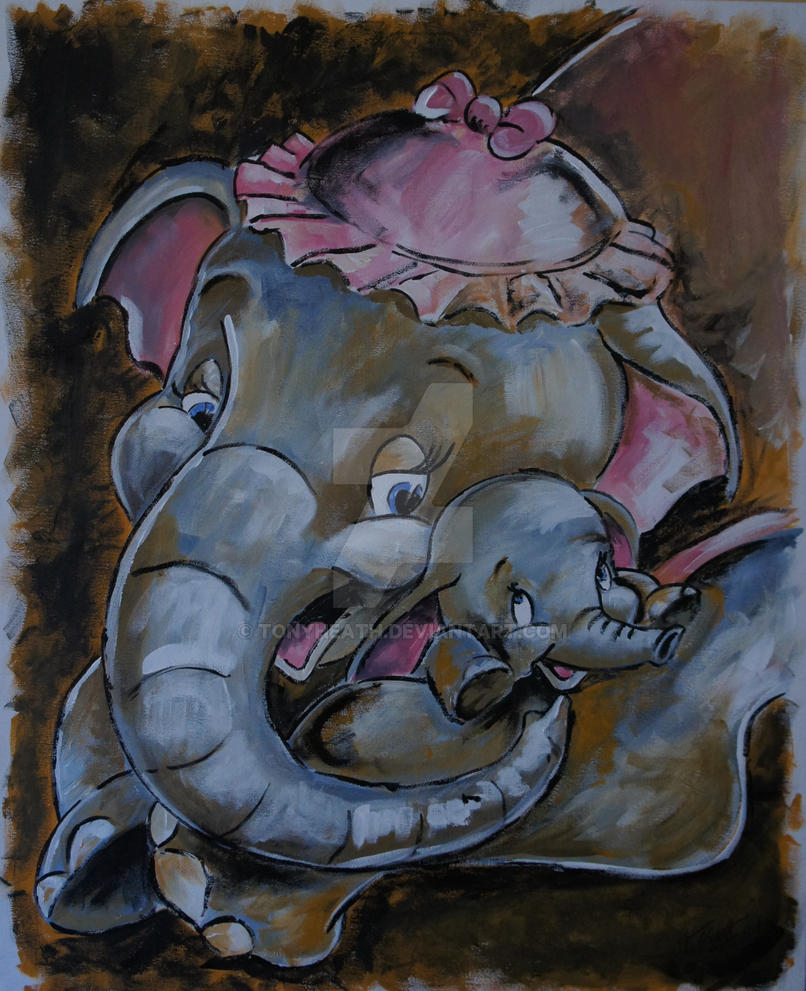 dumbo and his mother by tonyheath on deviantart