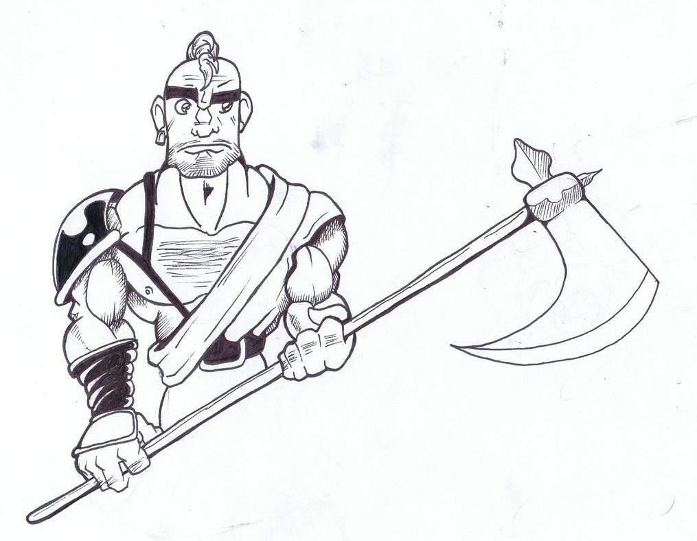 Warrior again an OC by ArtOfPhranger