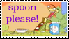Stamp - SPOON PLEASE by Blue-cat-hat
