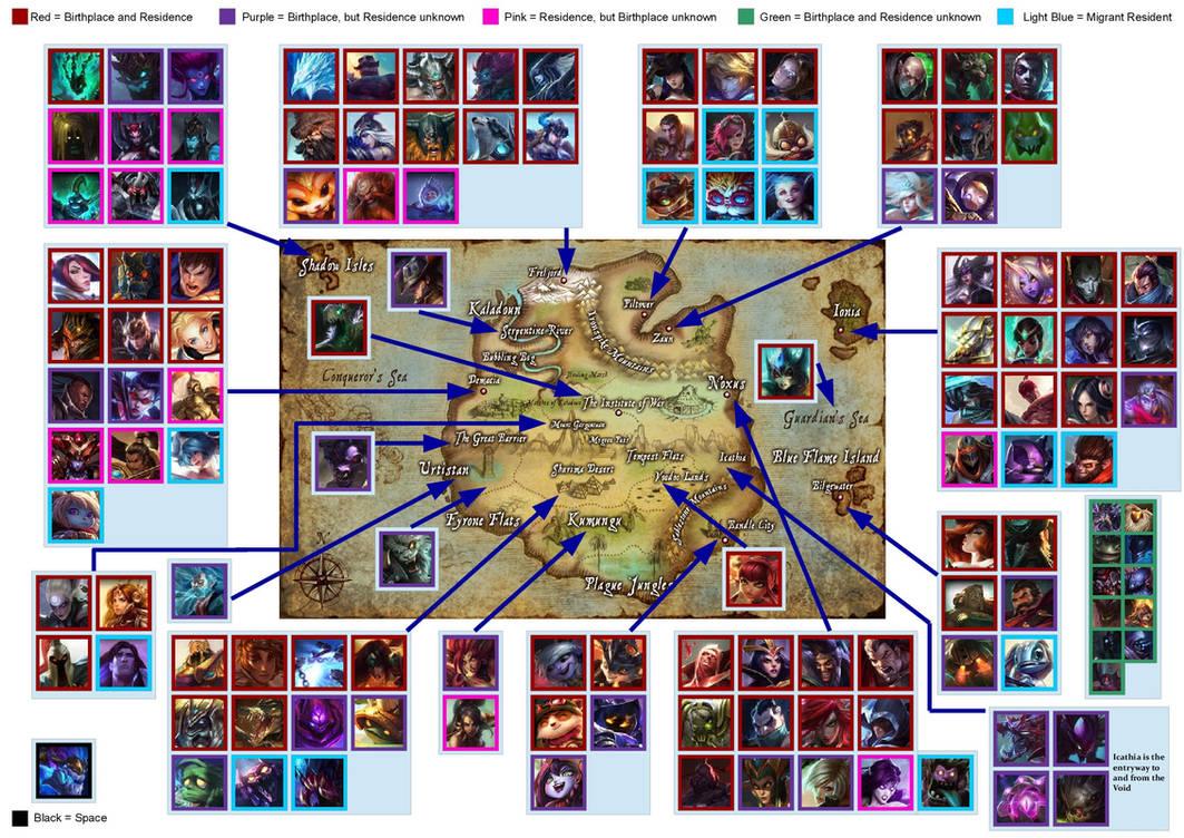 Runeterra Map by Imperial-Rose on DeviantArt