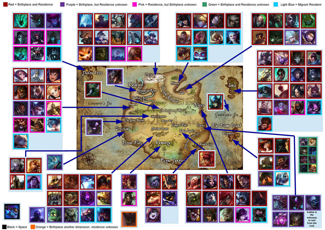 My Runeterra Map - June 2017 by Imperial-Rose on DeviantArt