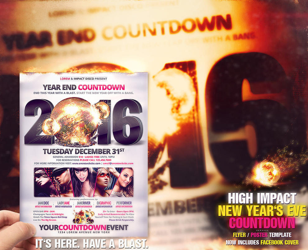 High Impact New Year's Eve Countdown Template by DesignFathoms