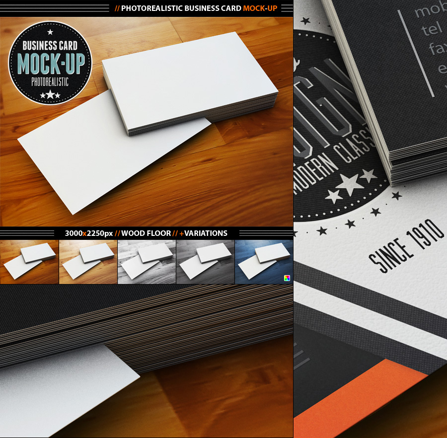Photorealistic business card mock up by designfathoms on deviantart photorealistic business card mock up by designfathoms colourmoves