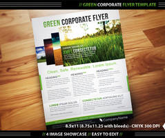 Green Corporate Flyer Template by DesignFathoms