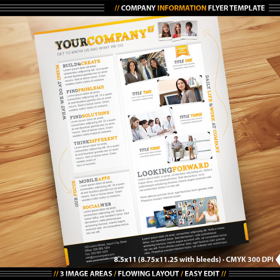 company info flyer template by designfathoms on deviantart