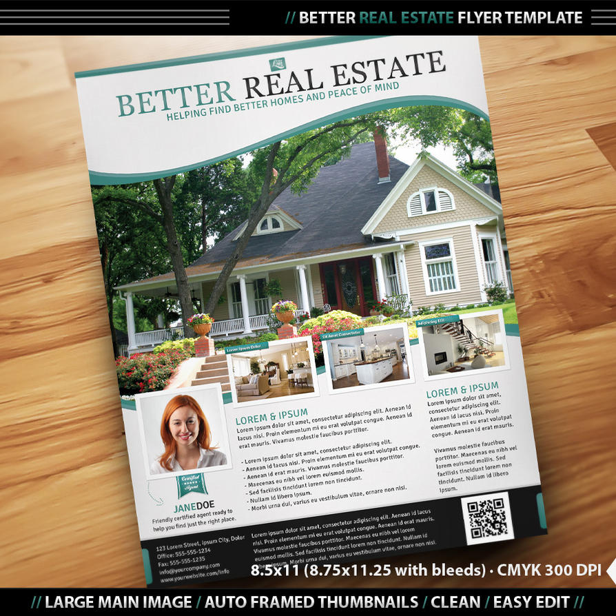 Better real estate flyer template by designfathoms on for Brochure templates for real estate