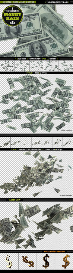 Isolated Money Rain