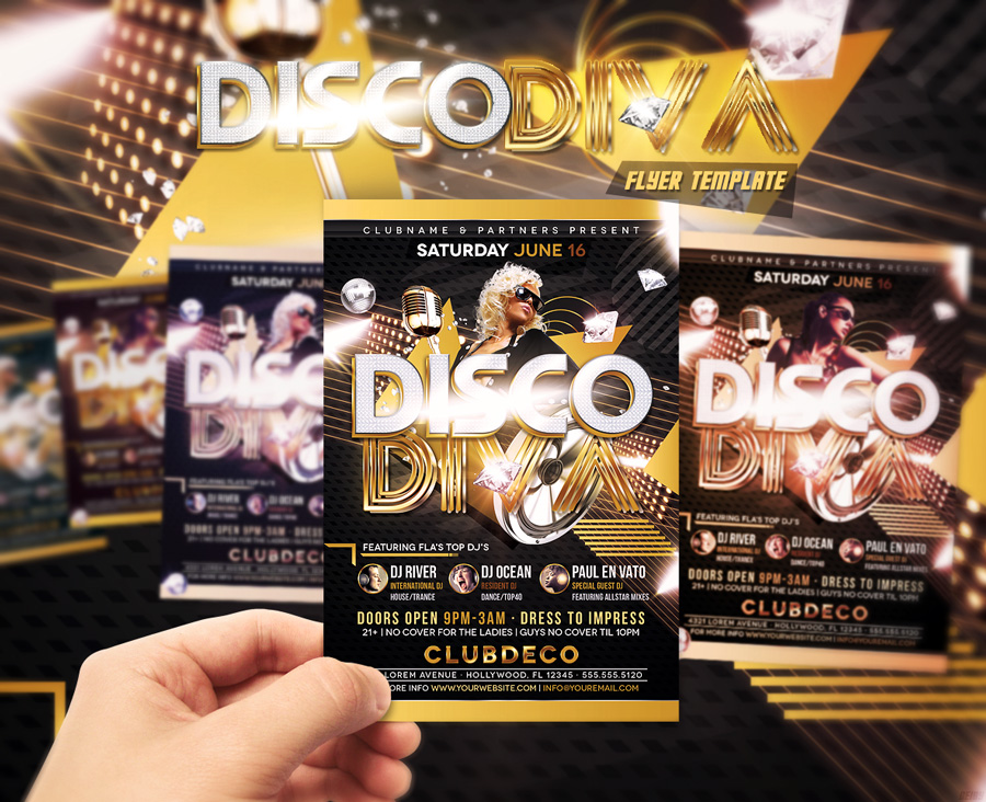 Disco Diva Flyer Template By Designfathoms On Deviantart