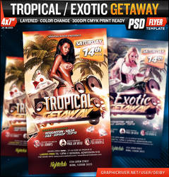 Tropical / Exotic Getaway Flyer Template