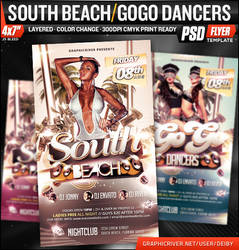 South Beach / GoGo Dancers Flyer Template