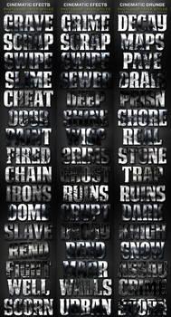 Cinematic Layer Styles Volume 1-3