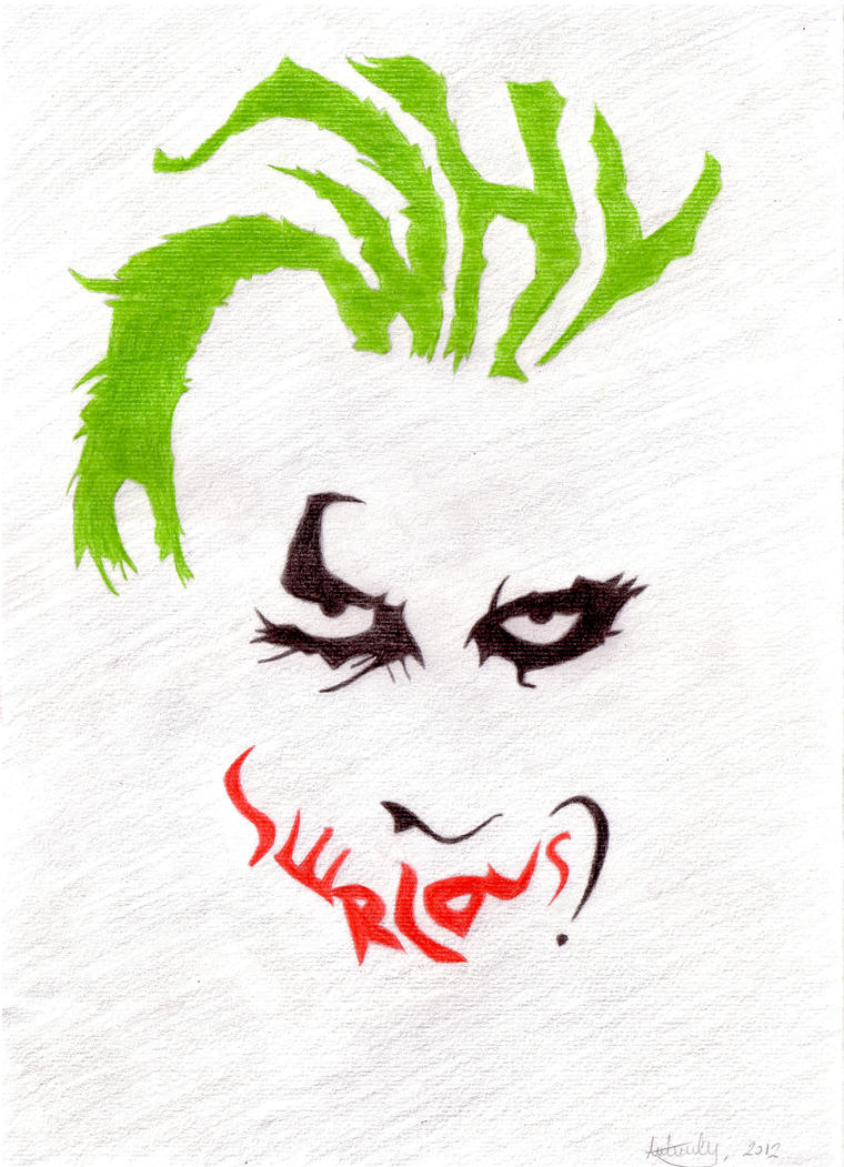 joker why so serious drawings 57890 movieweb