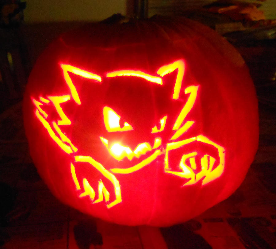 pokemon jack o lantern template - haunter jack o 39 lantern by stormmidnight on deviantart