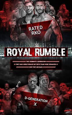 Royal Rumble 2015 Fantasy Match - Rated RKO vs DX