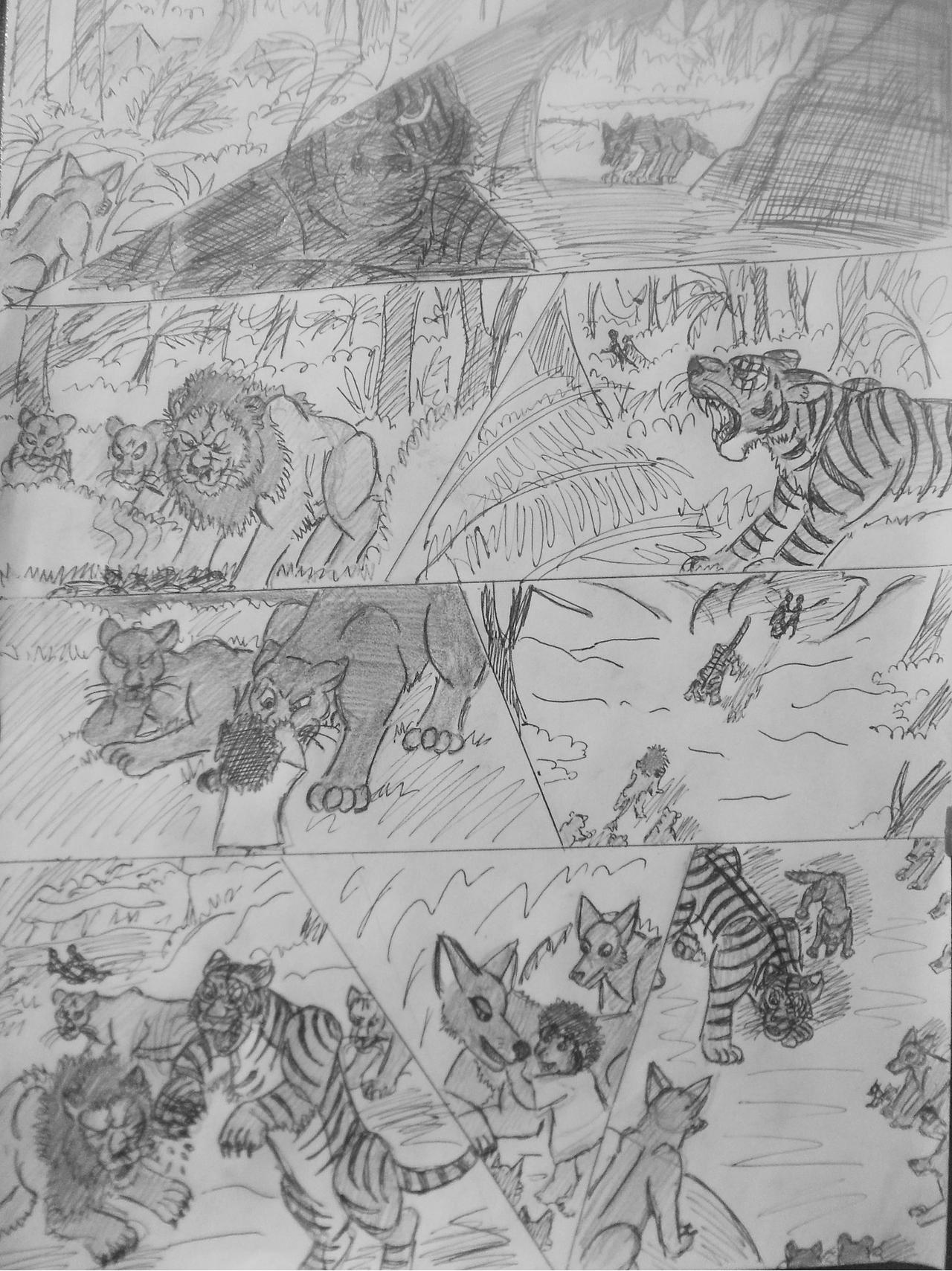 Book pages wallpaper old book pages wallpaper - Jungle Book Shere Khan S Story I By Wdghk On Deviantart