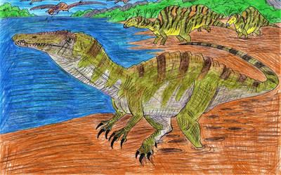 Spinosaur Strolling by WDGHK