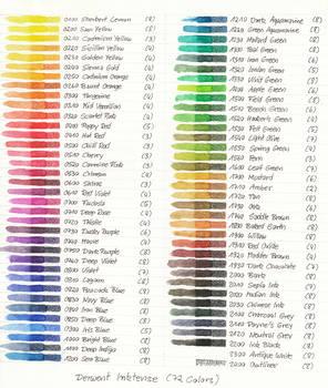 Color Chart Inktense
