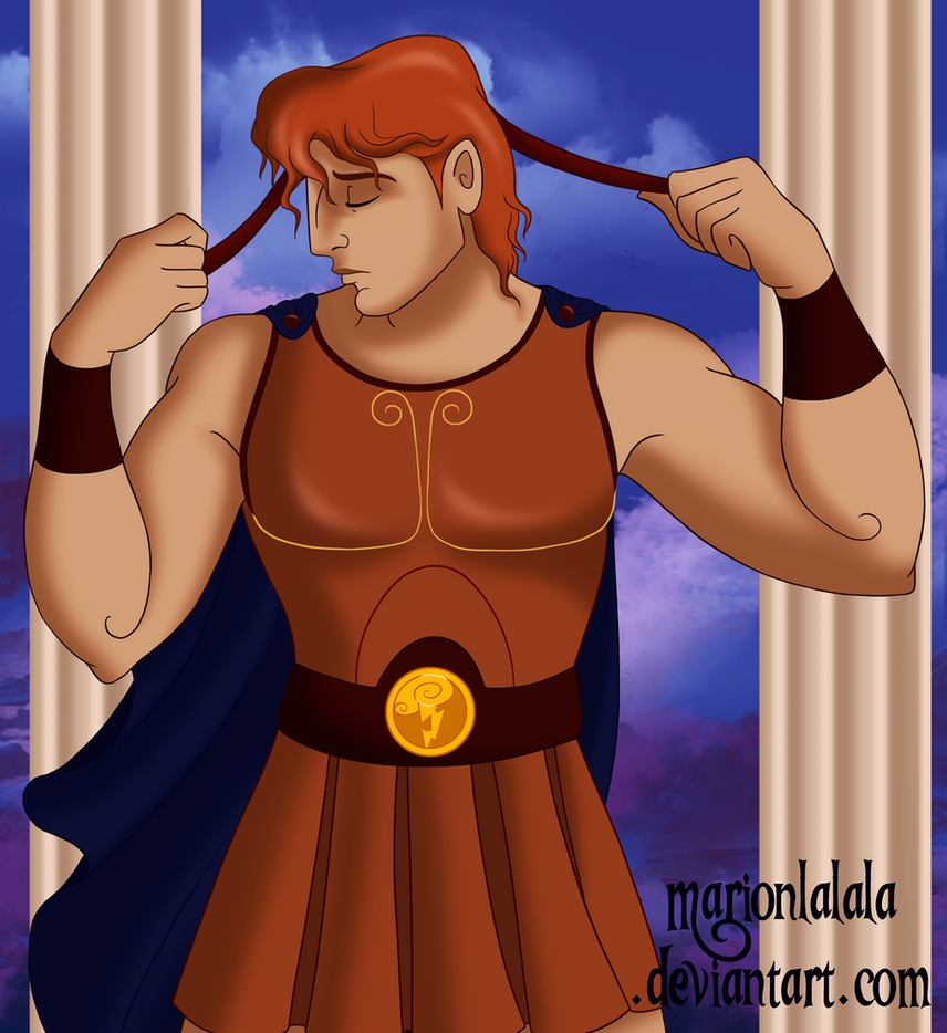 Hercules as the Diadumenos by marionlalala