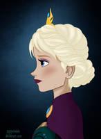 Elsa's royal portrait by marionlalala
