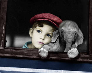 The boy and the elephant by hancreech