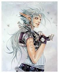 Iceblue Steampunk Elf