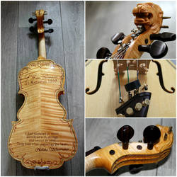 Violin Scarlet d'amore model with design