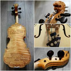 Violin Scarlet d'amore model with design