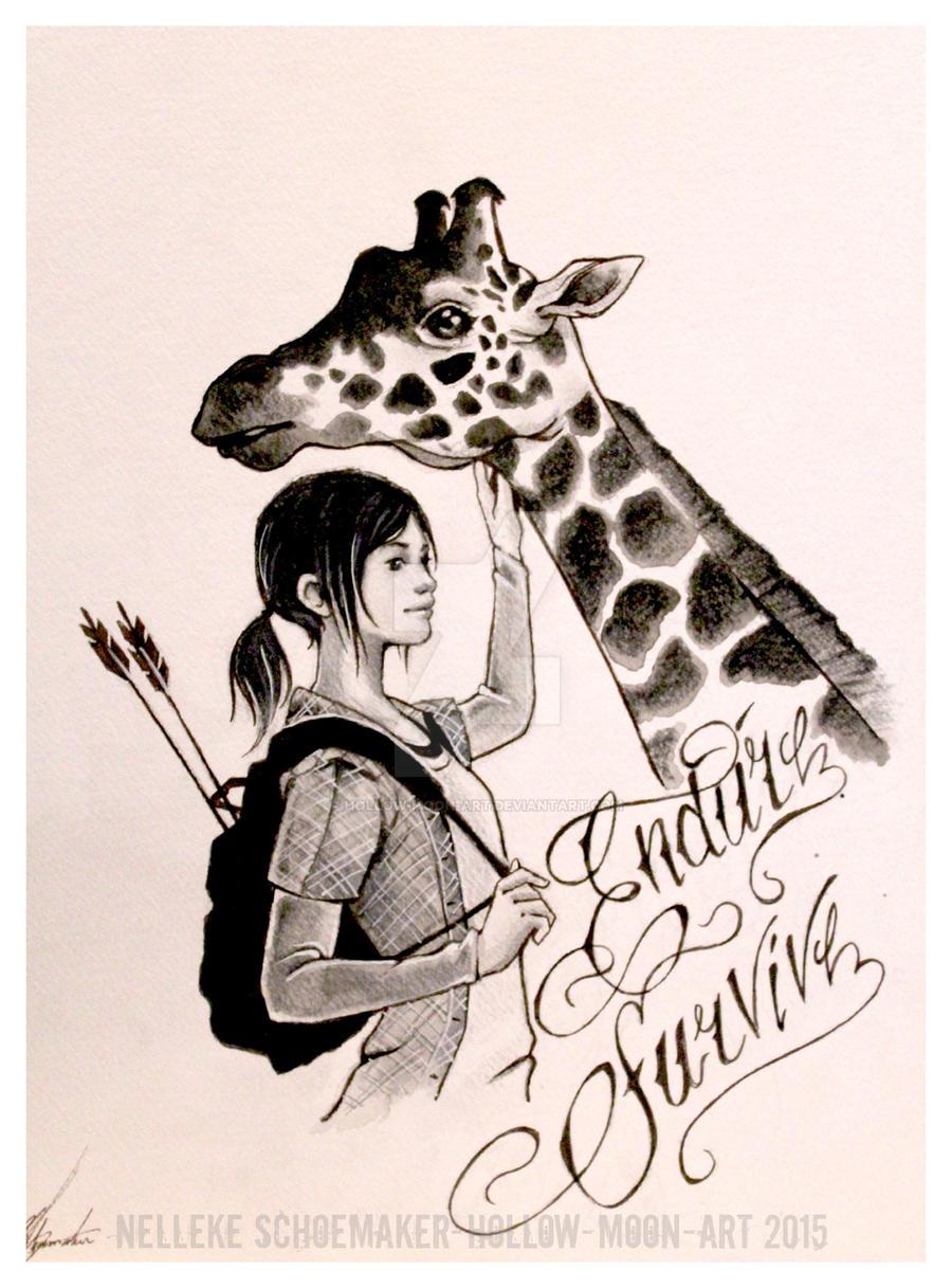 Ellie And Giraffe Tattoo Design By Hollow Moon Art On DeviantArt