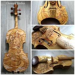 Golden dragon violin