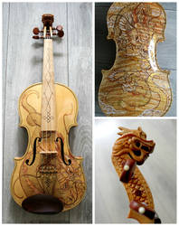 Golden dragon violin II
