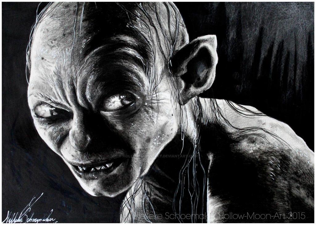 The Hobbit  - Smeagol by Hollow-Moon-Art