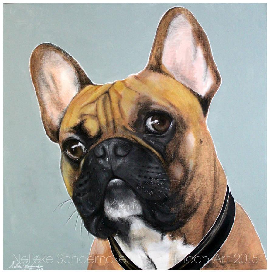 Yoda French Bulldog by Hollow-Moon-Art