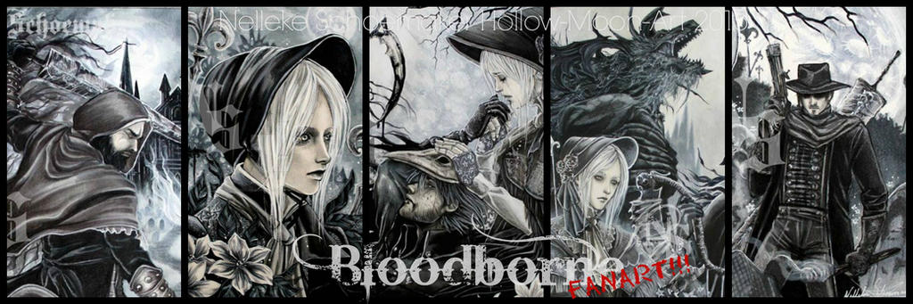 bloodborne fanart banner by Hollow-Moon-Art
