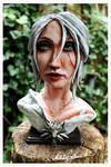 Ciri Bust statue - Witcher Wild hunt by Hollow-Moon-Art