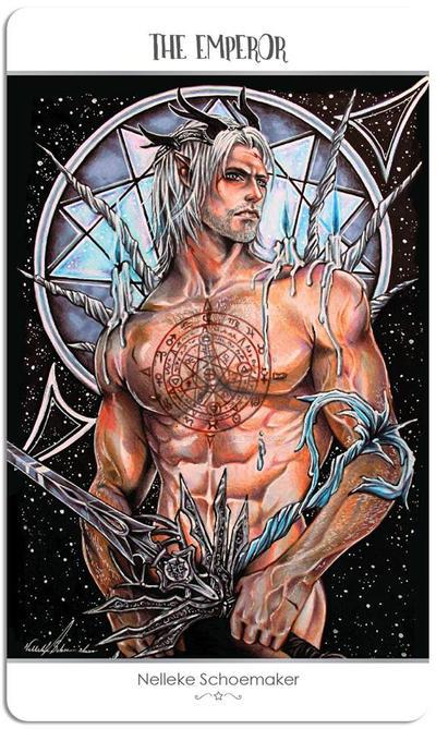 78 tarot card - the emperor by Hollow-Moon-Art