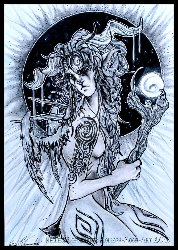 Faun Echantress by Hollow-Moon-Art