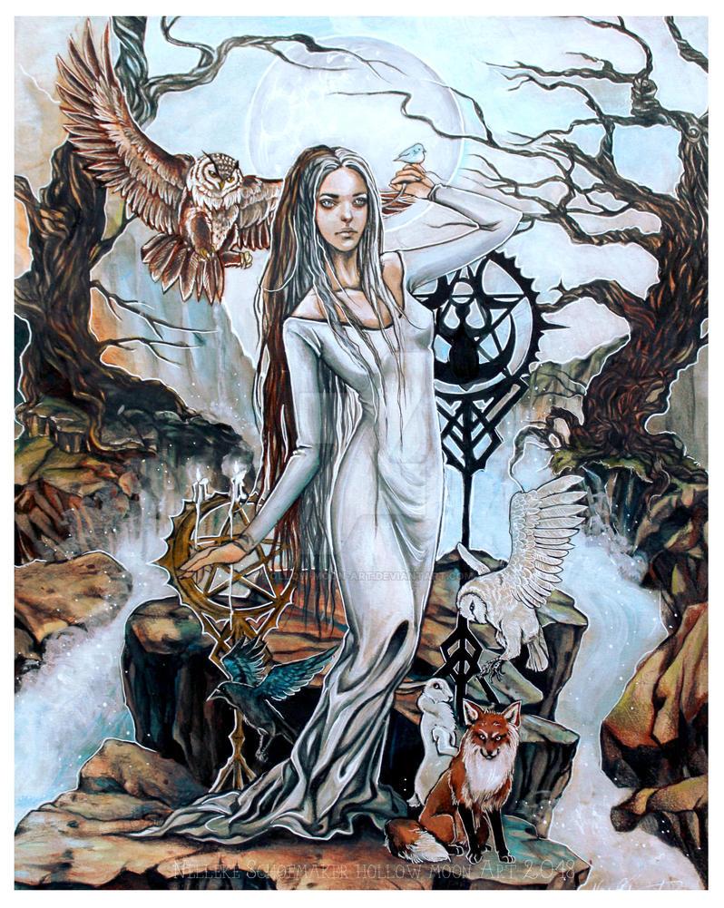 Moon Goddess by Hollow-Moon-Art